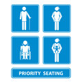Priority seating sign Royalty Free Stock Photo