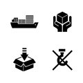 Priority shipping. Simple Related Vector Icons