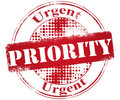 Priority stamp Royalty Free Stock Photos