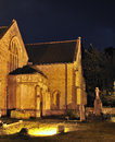 Priory Church of St. Mary at night Royalty Free Stock Images