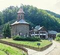 Prislop Monastery from Hunedoara County, Romania and Arsenie Boca Royalty Free Stock Photo