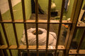 Prison cell on Alcatraz Island, San Francisco Royalty Free Stock Photo