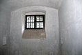 Prison cell window door of a in old begunje in slovenia where they killed hundreds of partisans resistance fighters Royalty Free Stock Photo