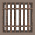 Prison cell window (rendered) Royalty Free Stock Image