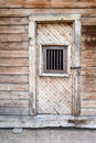 The prison door in bodie ghost town california a to abandoned Royalty Free Stock Image