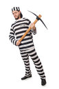 Prison inmate with axe Royalty Free Stock Photo