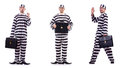 The prison inmate isolated on the white Royalty Free Stock Photo