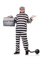 Prison inmate isolated Royalty Free Stock Photo
