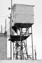 Prison wall watchtower black white photographs Royalty Free Stock Photo