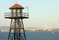 Prison watch tower and bridge Royalty Free Stock Photo
