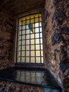 Prison window Royalty Free Stock Photo
