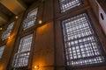 Prison windows backlit