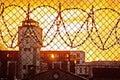 Prison yard Royalty Free Stock Photo