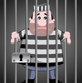 Prisoner behind bars illustration featuring sad cartoon standing eps file is available you can find other illustrations featuring Stock Photos