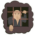 Prisoner human crime hand security bars punishment deprivation m man sorrow Stock Photography