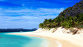 Pristine beach on a lonly island Royalty Free Stock Photography