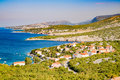 The pristine coastline and crystal clear water of the island of rab croatia Stock Photo