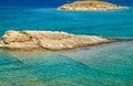The pristine coastline and crystal clear water of the island of rab croatia Royalty Free Stock Photo