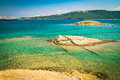 The pristine coastline and crystal clear water of the island of rab croatia Stock Images