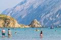 The pristine coastline and crystal clear water of the island of rab croatia circa august rab croatia Royalty Free Stock Photo