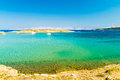 The pristine coastline of the island of rab and crystal clear water croatia Royalty Free Stock Photos