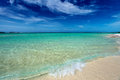 Pristine cuban beach in cayo coco white sandy Royalty Free Stock Photography