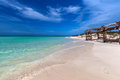 Pristine cuban beach in cayo coco white sandy Stock Photo