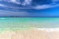 Pristine cuban beach in cayo coco white sandy Royalty Free Stock Images