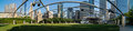 Pritzer pavilion panorama of the jay pritzker Royalty Free Stock Photo