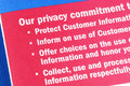 Privacy commitment to the custom Stock Photo