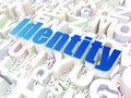 Privacy concept identity on alphabet background d render Stock Images