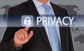 Privacy - Manager with touchscreen Royalty Free Stock Photo