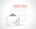 Privacy policy documents illustration design over a white background Stock Photography