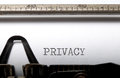 Privacy written on a vintage typewriter Royalty Free Stock Image