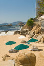 Private Beach Cove Acapulco Stock Image