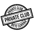 Private Club rubber stamp Royalty Free Stock Photo