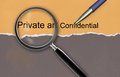 Private and confidential made in d software Royalty Free Stock Image
