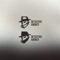 Private detective vector logo agency sign vintage label Royalty Free Stock Photos