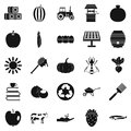 Private farm icons set, simple style Royalty Free Stock Photo