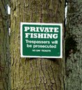 Private Fishing Sign Stock Photography