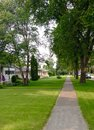 Private houses outdoor view at buildings and in winnipeg canada Royalty Free Stock Photo