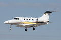 Private jet a modern small white landing Royalty Free Stock Images