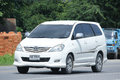 Private mpv car toyota innova chiangmai thailand august on road no km from chiangmai business area Stock Photos