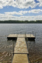 Private pier at the river Royalty Free Stock Photo