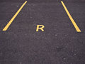 Empty Reserved Car Parking Bay Royalty Free Stock Photo