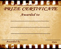 Prize certificate Stock Photos