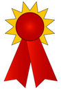Prize ribbon Stock Photo