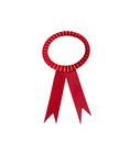 Prize ribbon isolated on white background Royalty Free Stock Images
