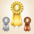 Prize ribbons Royalty Free Stock Image