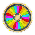 Prize wheel with empty slices on white background Stock Image